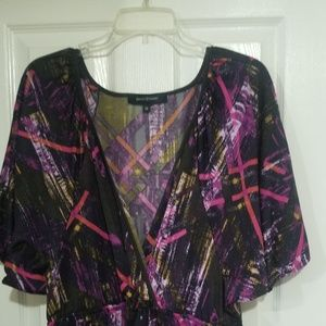 ASHLEY KNEE LENGTH WRAP STYLE DRESS 1X